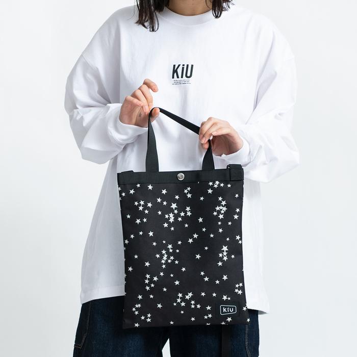 (複製)KiU|黑色 籃網托特包 一包變兩包,防水三用瞬間變化