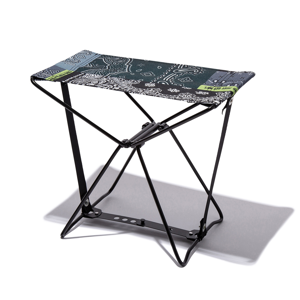 KiU Zakka拼布風 隨身風格折疊凳 附收納袋