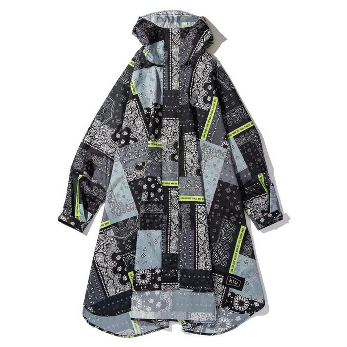 (複製)KiU|薄荷綠 標準成人空氣感有袖斗篷雨衣(男女適用)