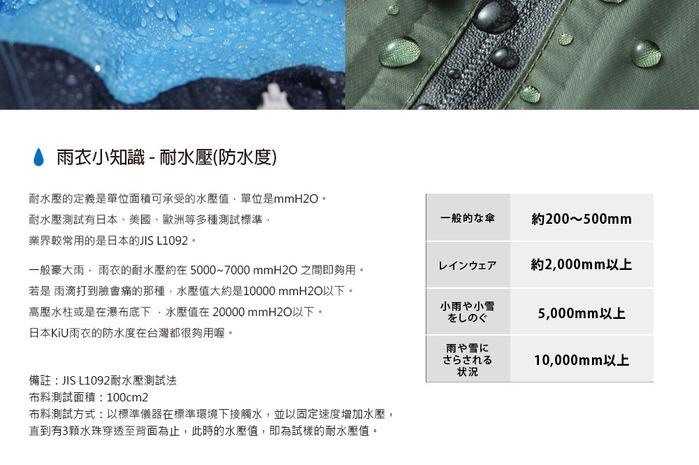 (複製)KiU|米色 標準成人空氣感有袖斗篷雨衣(男女適用)