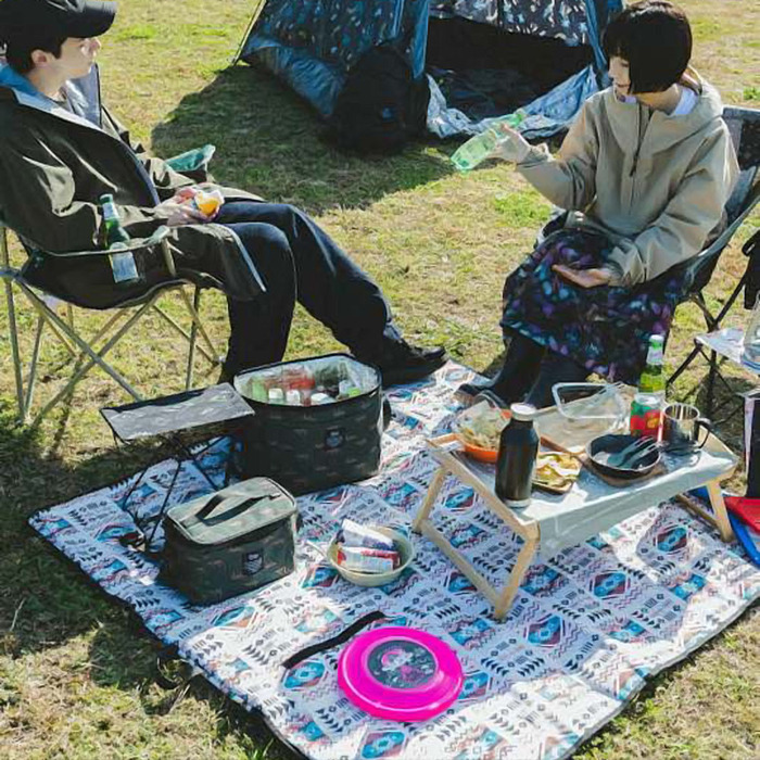 (複製)KiU 波斯格紋 防水野餐墊 附收納袋