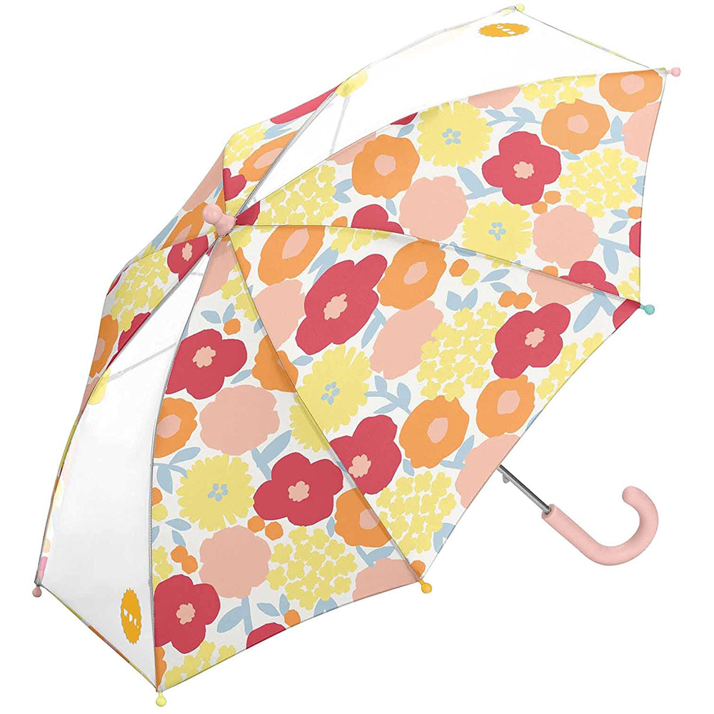 WPC 克拉拉花朵 兒童安全開關傘 透明視窗