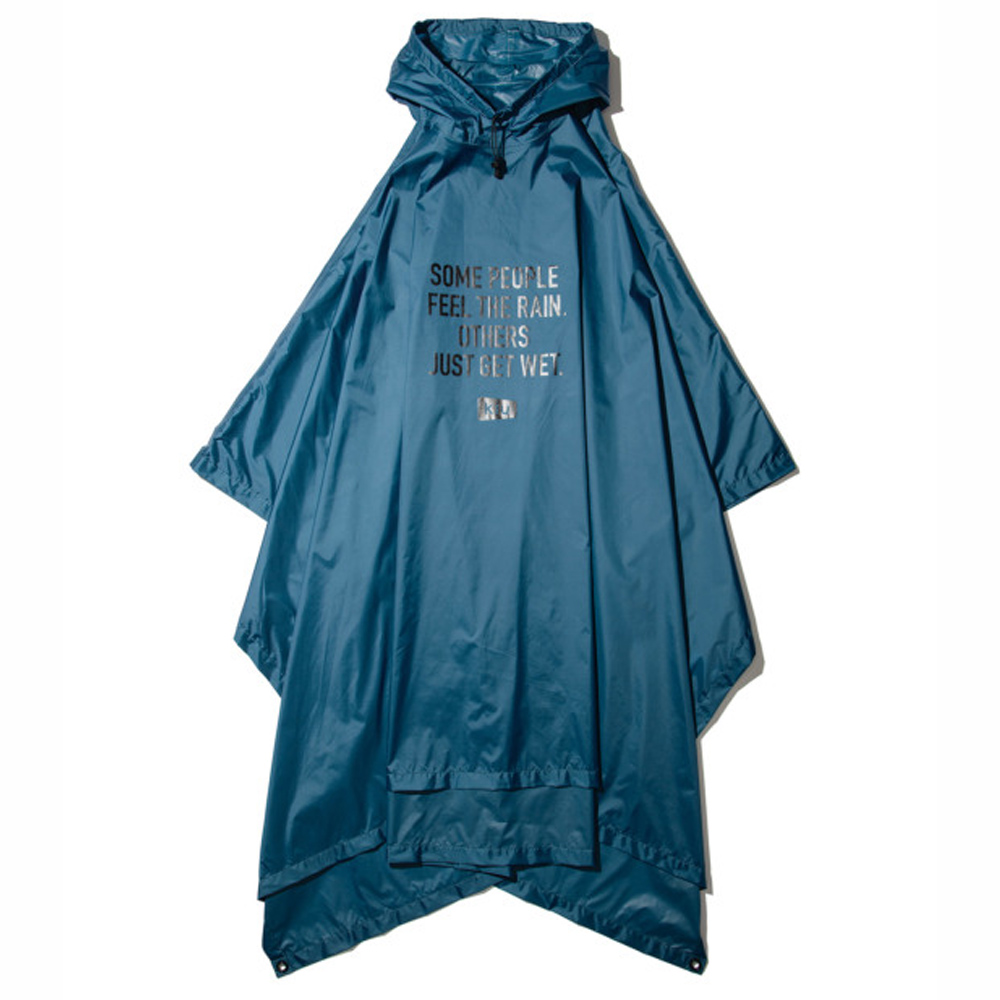 KiU 碧藍色 超輕量成人斗篷雨衣(男女適用)