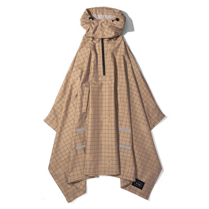 (複製)KiU|黑色夜光格紋 機車/自行車雨衣斗篷 附收納袋(男女適用)
