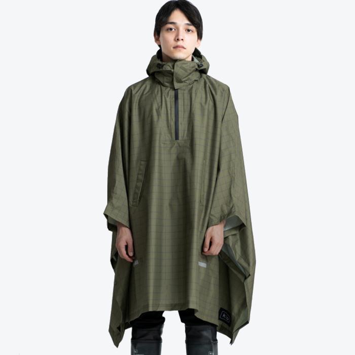 (複製)KiU 卡其夜光格紋 機車/自行車雨衣斗篷 附收納袋(男女適用)