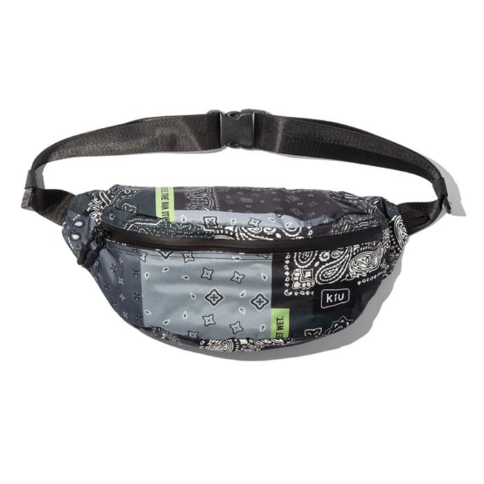 (複製)KiU|夜光格紋-黑 大容量胸腰包 防潮防潑水 (男女適用)