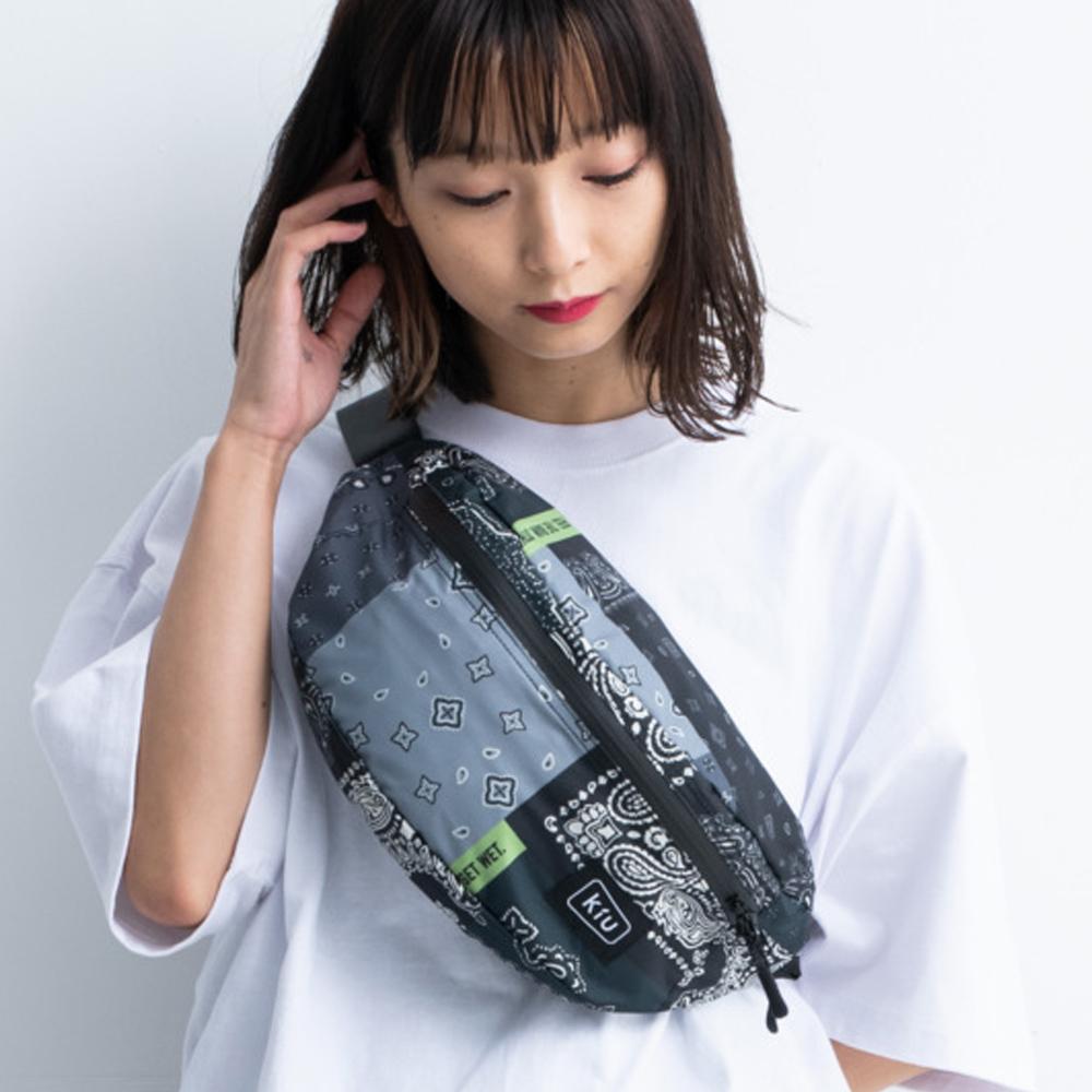 KiU|Zakka拼布風 大容量胸腰包 防潮防潑水 (男女適用)