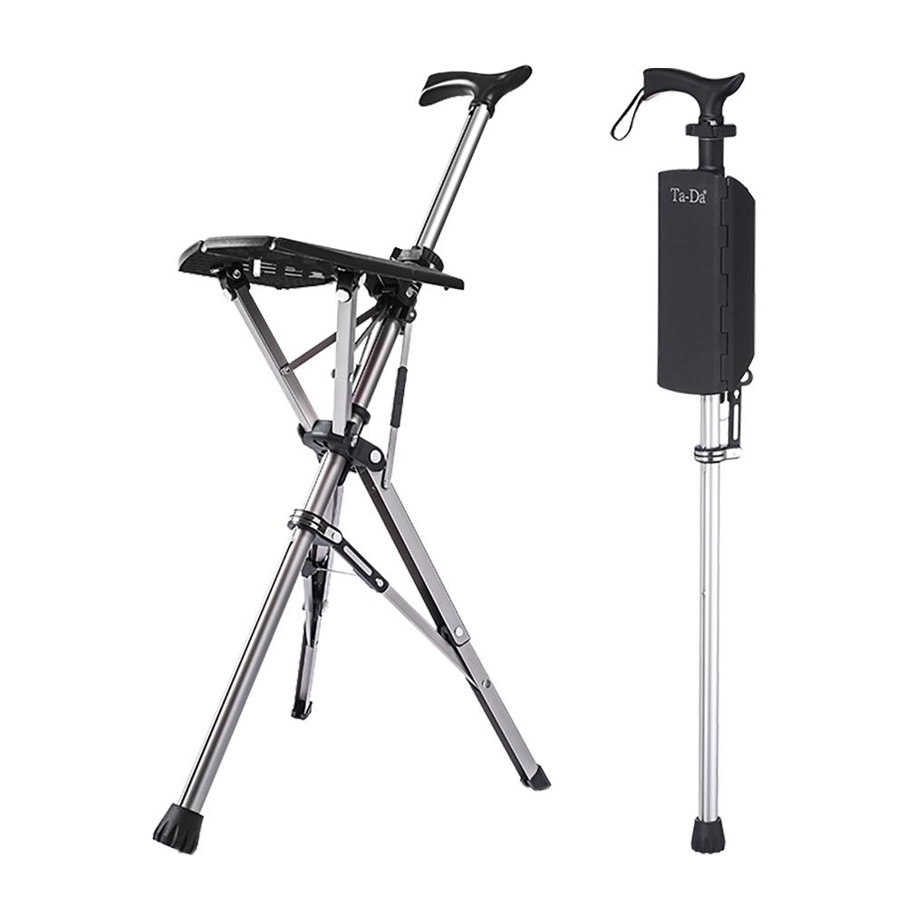 Ta-Da|泰達自動手杖椅(黑色) -100kg
