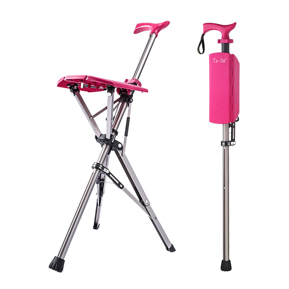 泰達椅-自動手杖椅(玫瑰紅)-100kg