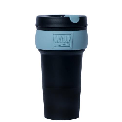 WAYCUP 威客杯│環保伸縮杯 (黑藍)