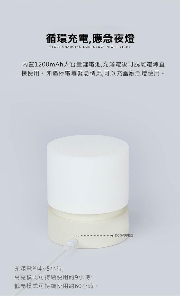 HBK|圓柱燈  (USB充電)