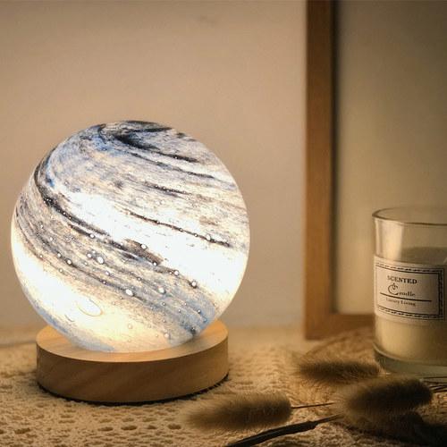 家禮|玻璃星球小夜燈  (12cm/USB充電)