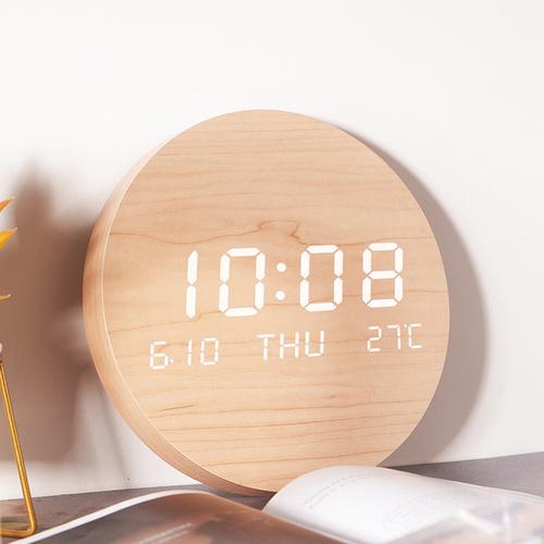 家禮 7.5吋圓形LED電子鐘
