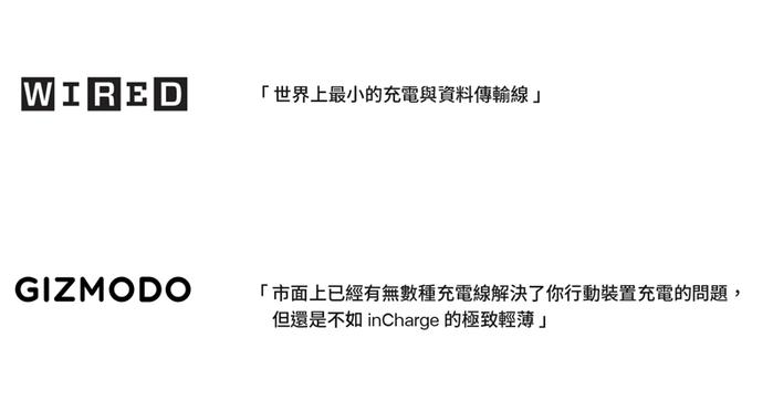 【集購】瑞士 inCharge│世界最小 USB 傳輸線(超值兩入組)