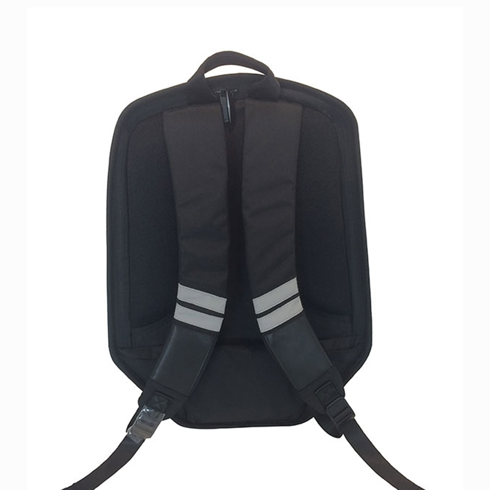 SHIELD 時尚防盜硬殼後背包-時尚黑