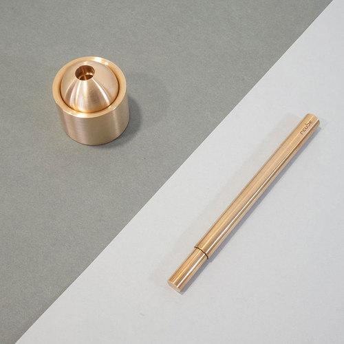 Rcube design│Invisi Pen黃銅筆(金色)