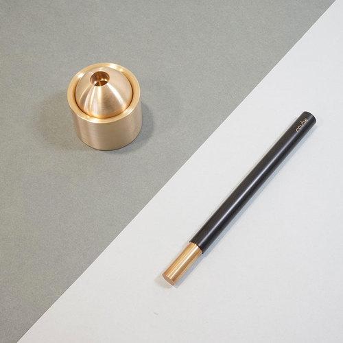 Rcube design│Invisi Pen黃銅筆(黑色)