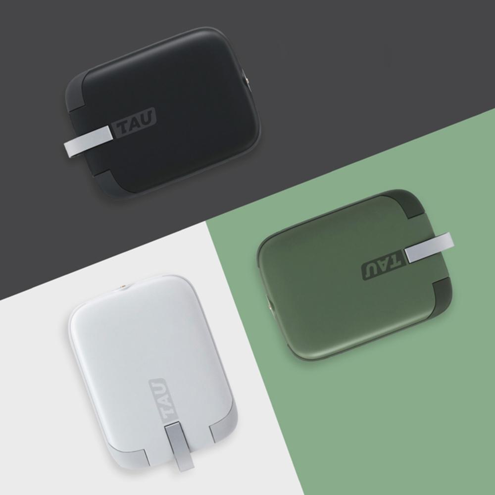 TAU|世界最小的三合一磁吸式鑰匙圈行動電源 (雙入組)