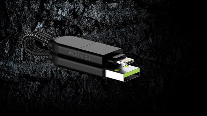 瑞士 inCharge X 60W極速快充,讓手機變主機的OTG六合一傳輸線(隨身版 蘋果專用快充版)