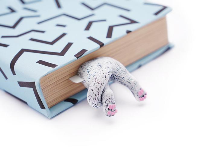(複製)烏克蘭myBookmark|肉球腳丫小黑貓