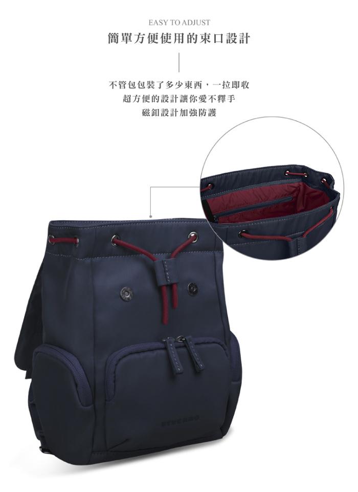 (複製)TUCANO 超輕量防潑水撞色系休閒大容量後背包-黑色