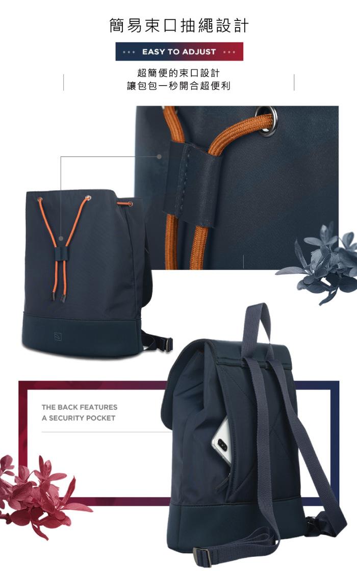 (複製)TUCANO|超輕量防潑水撞色款簡約大容量後背包-紅色