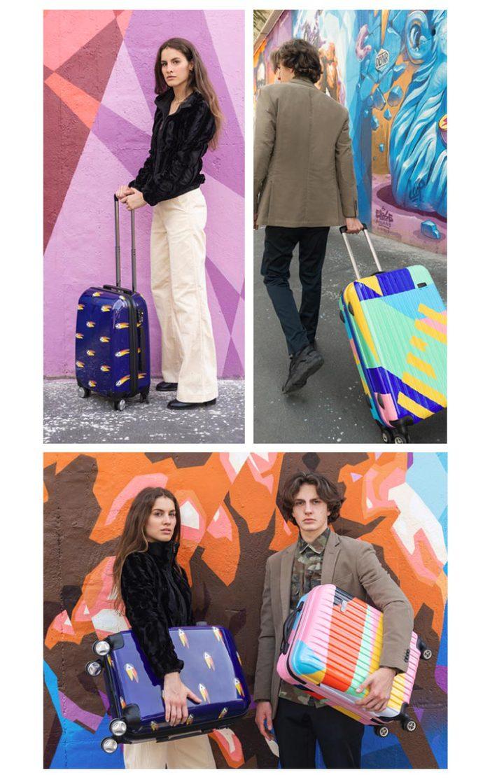 (複製)TUCANO|MENDINI 20吋拉鍊式硬殼登機行李箱-繽紛綠彩