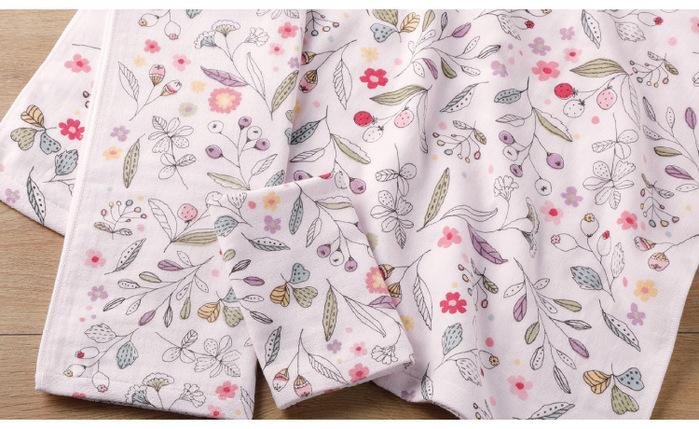 (複製)日本丸真|今治紗布純棉花卉浴巾-米色