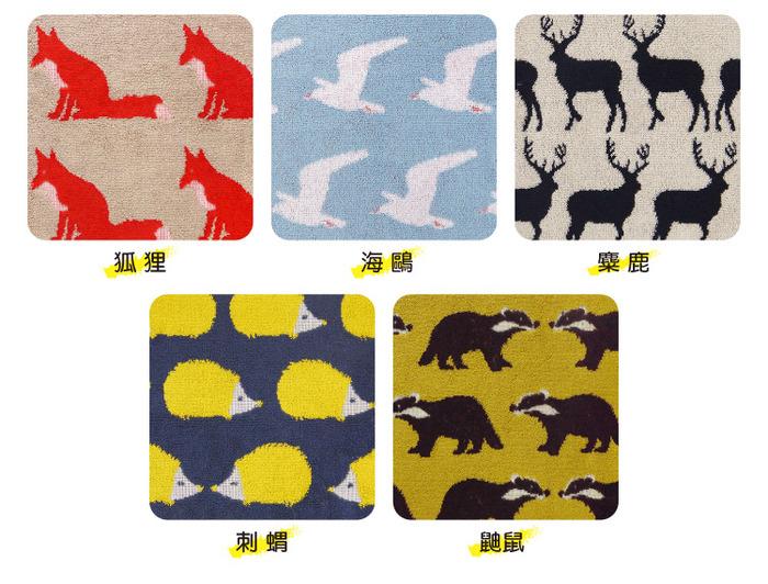 日本丸真|Anorak英倫設計款毛巾-松鼠