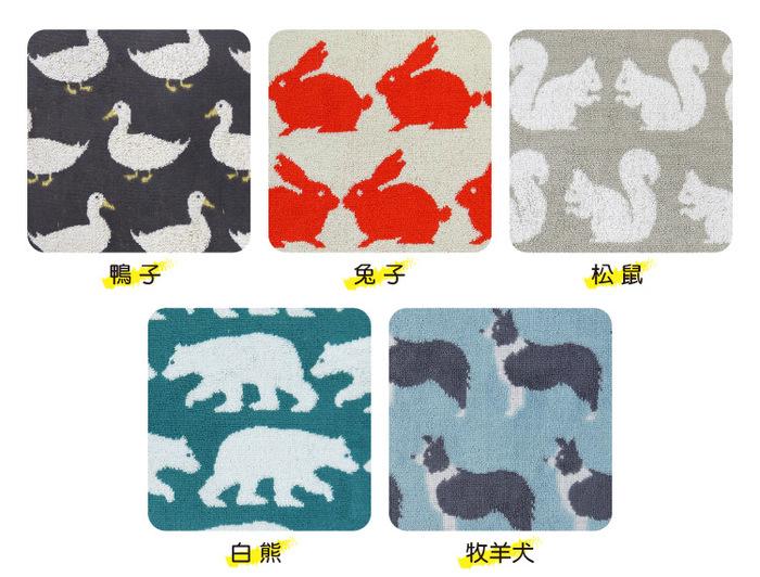 日本丸真 Anorak英倫設計款毛巾-白熊