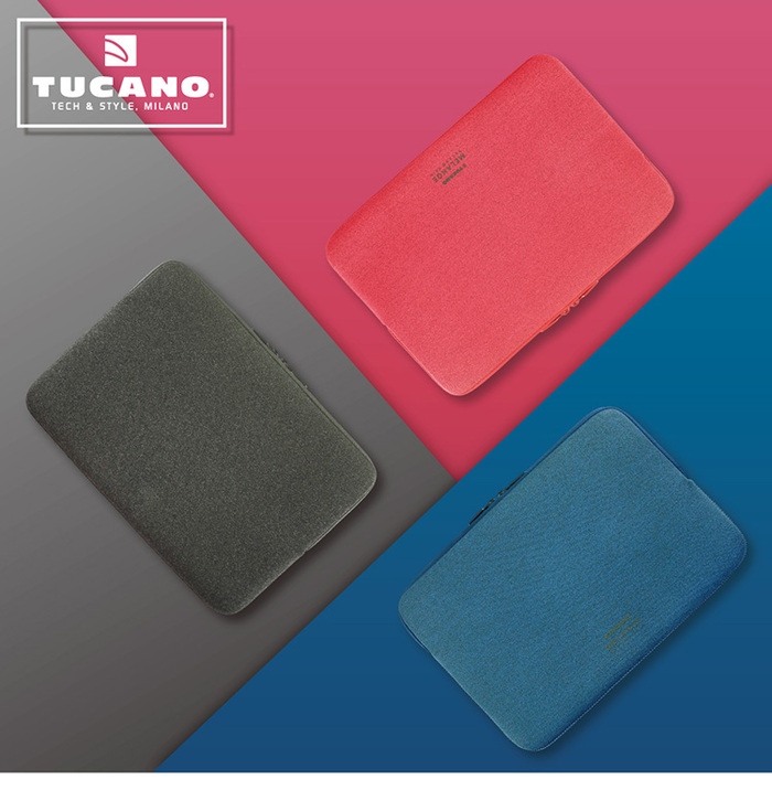 TUCANO|MELANGE2 簡約風防震機能內袋15吋 黑