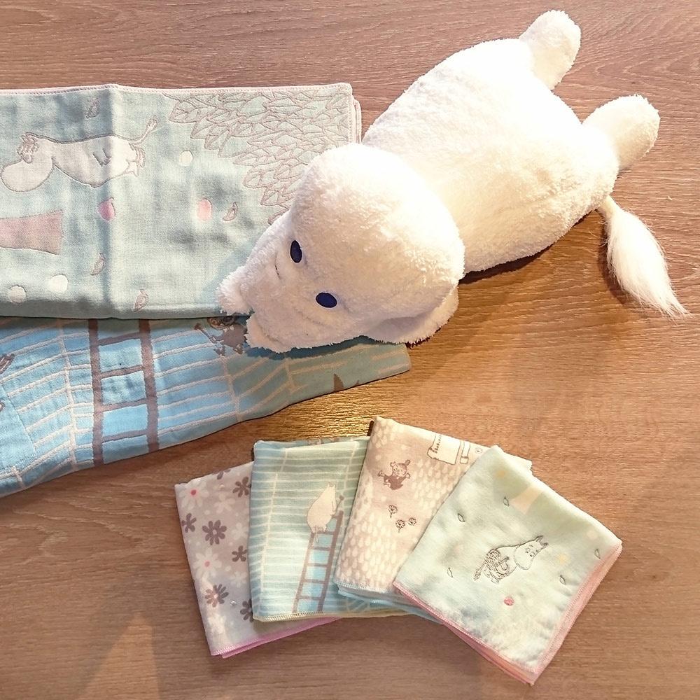 日本丸真|Moomin三層紗布方巾