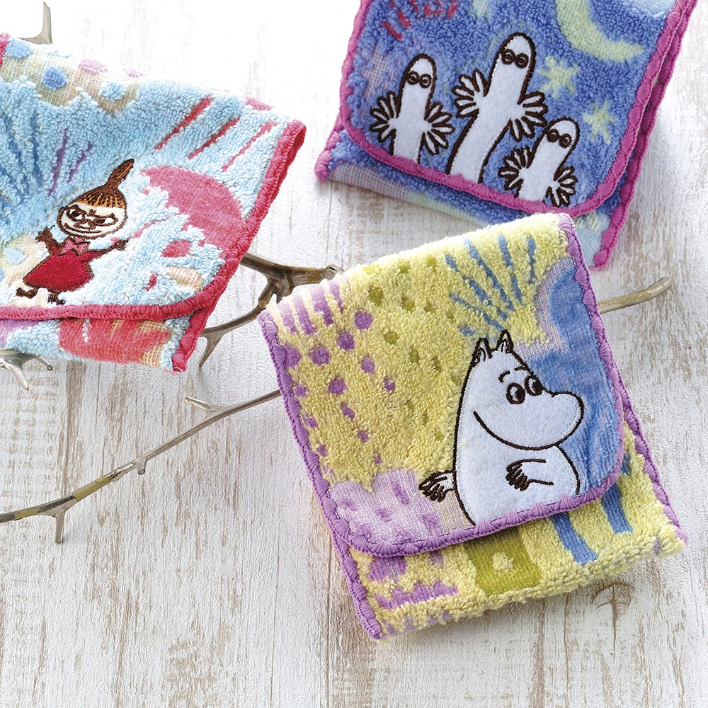 日本丸真|Moomin方型毛巾布收納袋