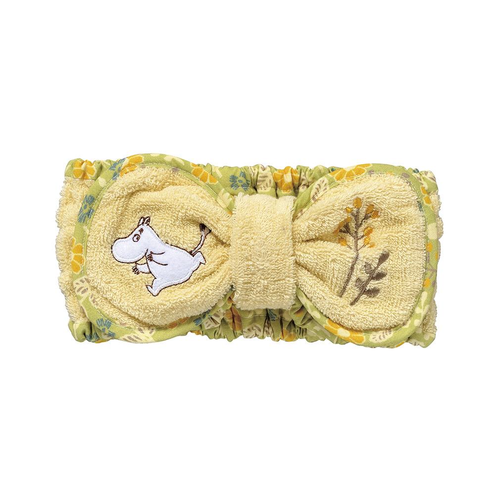 日本丸真|Moomin毛巾布蝴蝶結髮帶