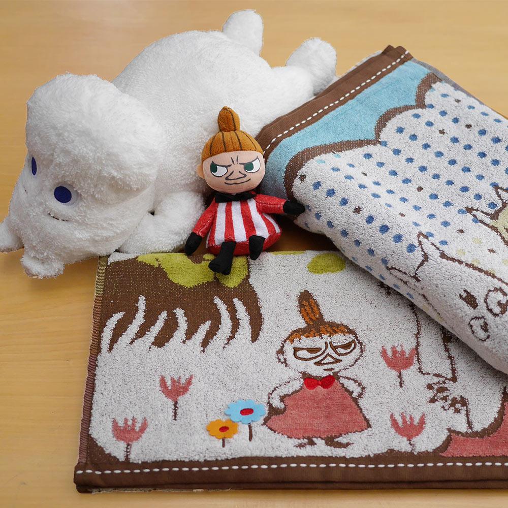 日本丸真|Moomin刺繡方巾-家庭