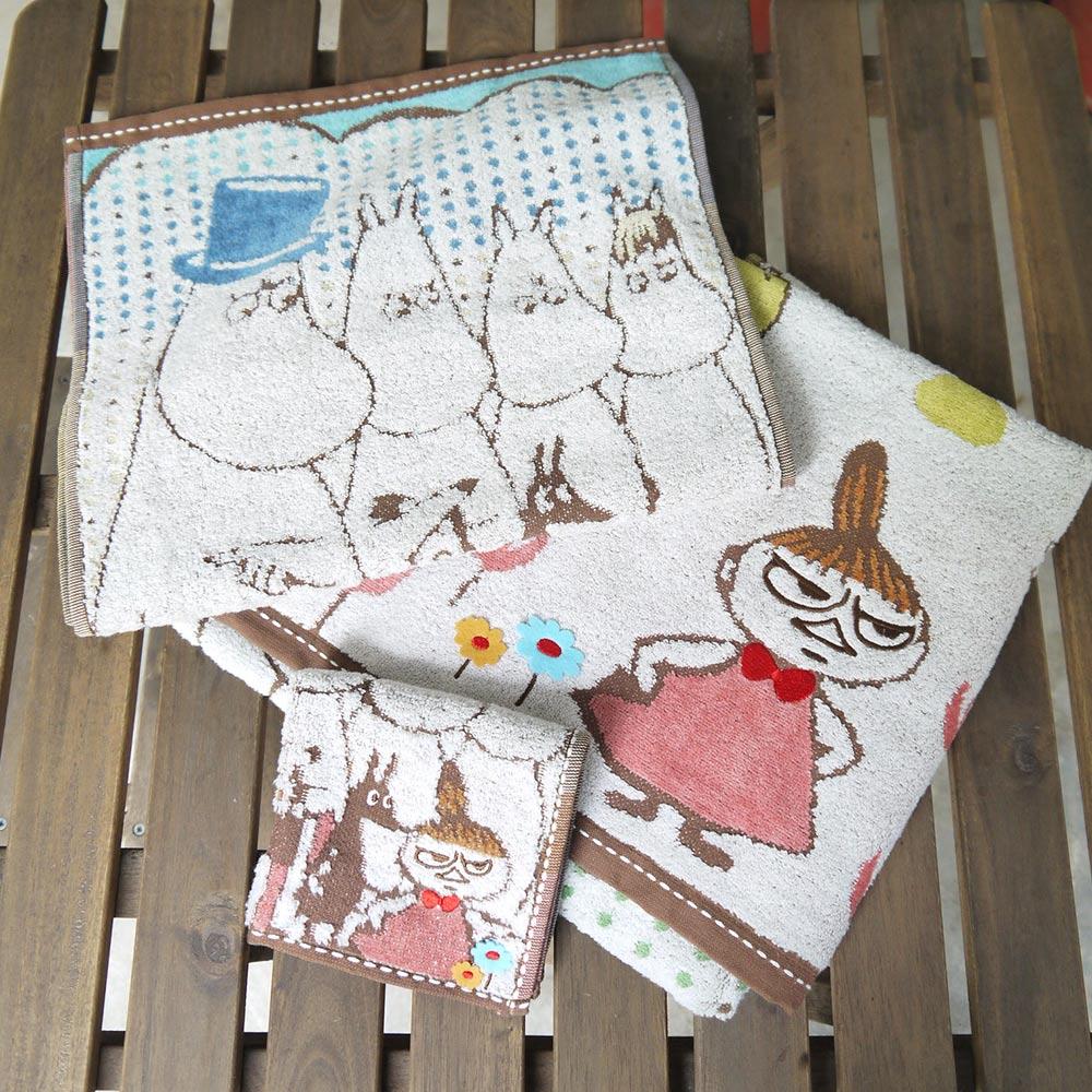 日本丸真|Moomin刺繡浴巾-家庭