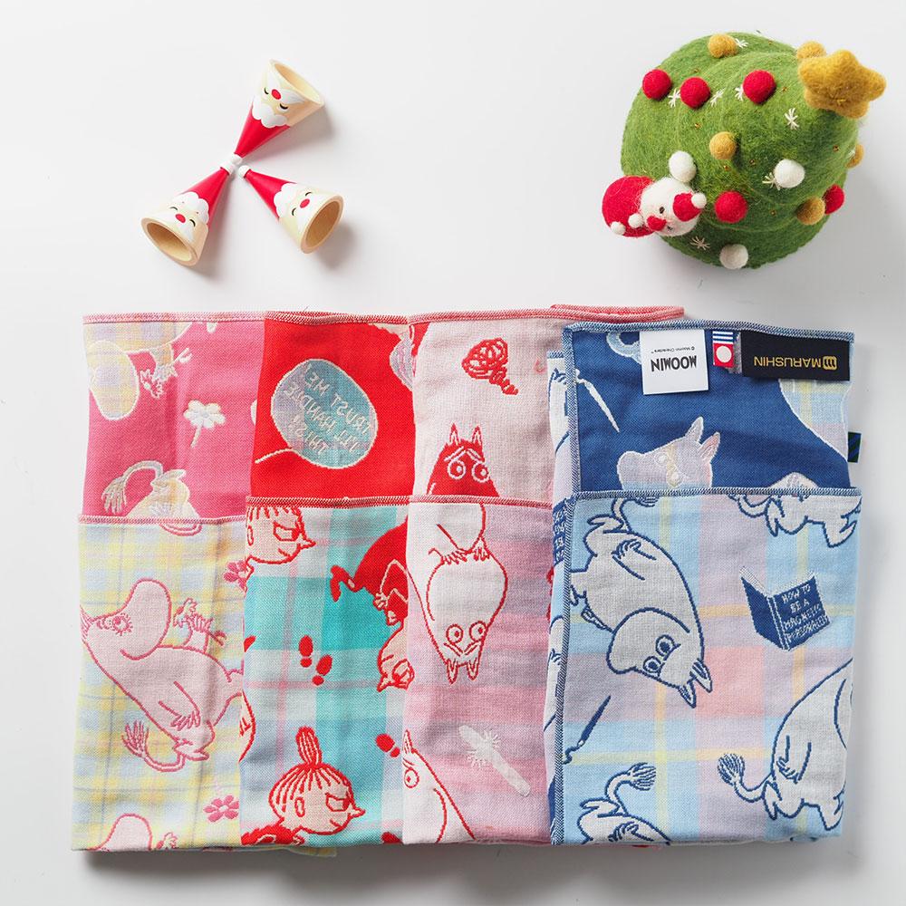 日本丸真|Moomin今治三層紗布方巾