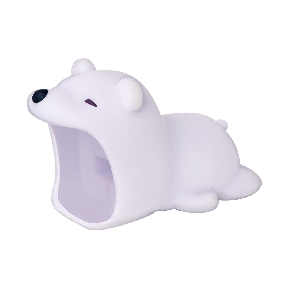 Dreams|大嘴巴豆腐頭咬線器-Apple專用-冬眠北極熊