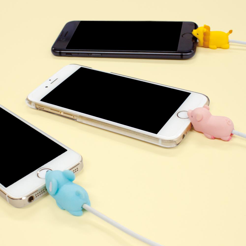 Dreams|慵懶動物園II-iphone專用咬線器-吃甜食獅子