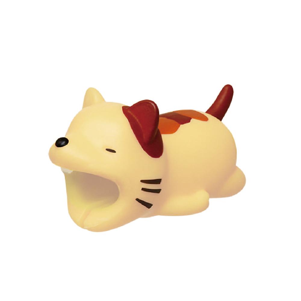 Dreams 慵懶動物園-iphone專用咬線器-賴床的貓咪