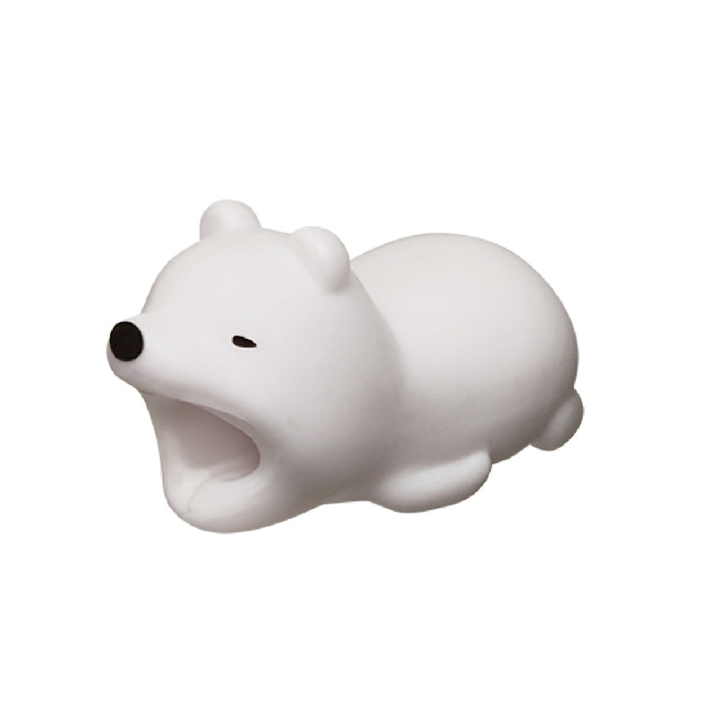 Dreams|慵懶動物園-iphone專用咬線器-冬眠北極熊