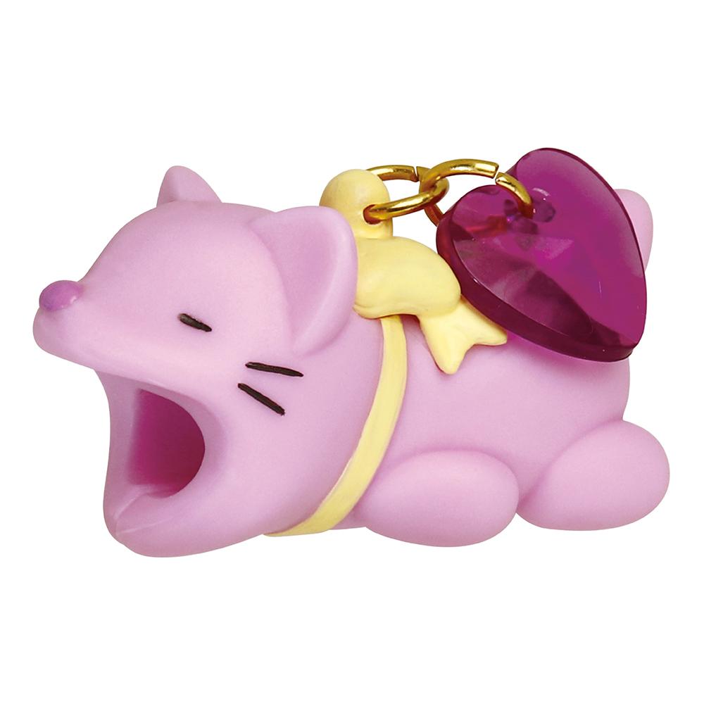 Dreams|Cable Bite iPhone傳輸線專用咬線器-愛心粉紫喵