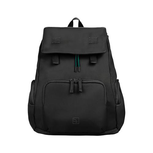 TUCANO|超輕量防潑水撞色系休閒大容量後背包-黑色