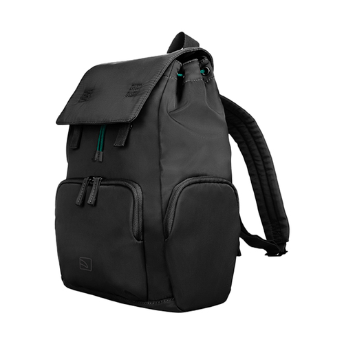 TUCANO 超輕量防潑水撞色系休閒後背包-黑色
