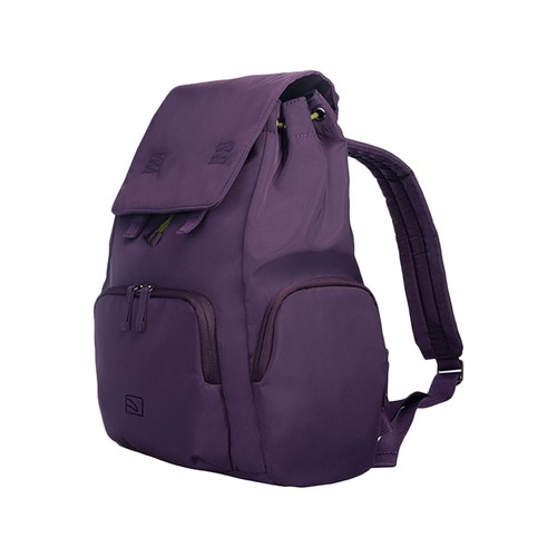 TUCANO|超輕量防潑水撞色系休閒後背包-紫色