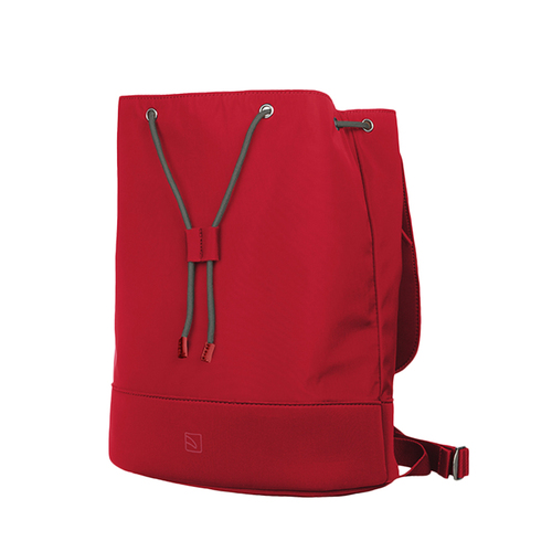 TUCANO 超輕量防潑水撞色款簡約大容量後背包-紅色