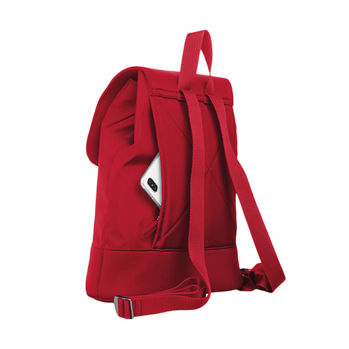 TUCANO 超輕量防潑水撞色款簡約後背包-紅色
