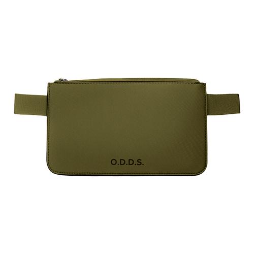 TUCANO|ODDS 潛水布防水防盜拉鍊式腰包-軍綠