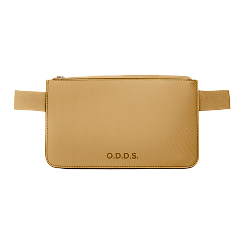 TUCANO|ODDS 潛水布防水防盜拉鍊式腰包-杏色