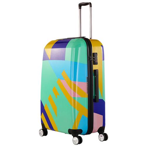 TUCANO|MENDINI 24吋拉鍊式硬殼登機行李箱-繽紛綠彩